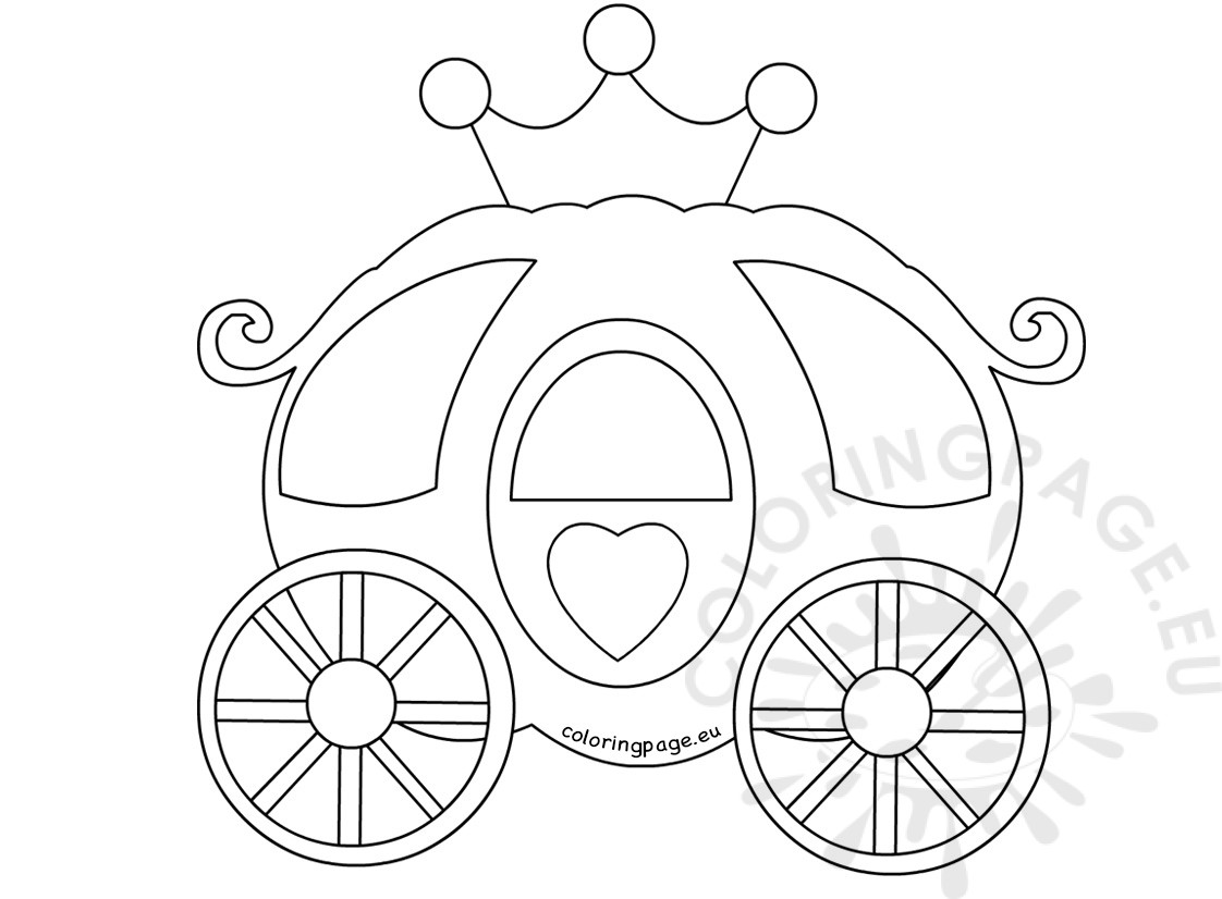 Pumpkin Carriage Printable Coloring Pages