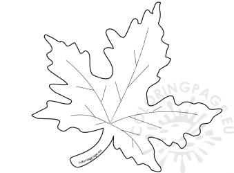 leaf template maple autumn coloring pumpkin shape getdrawings drawing coloringpage eu