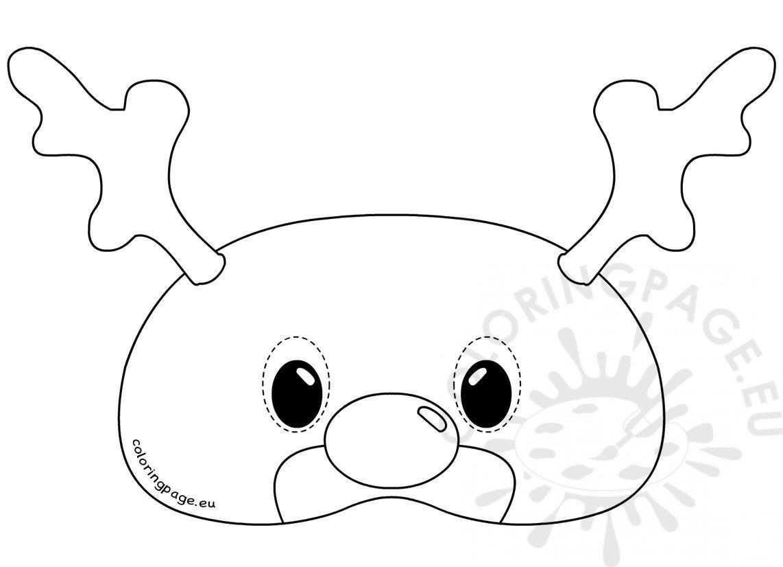 Felt Reindeer Mask Rudolph template