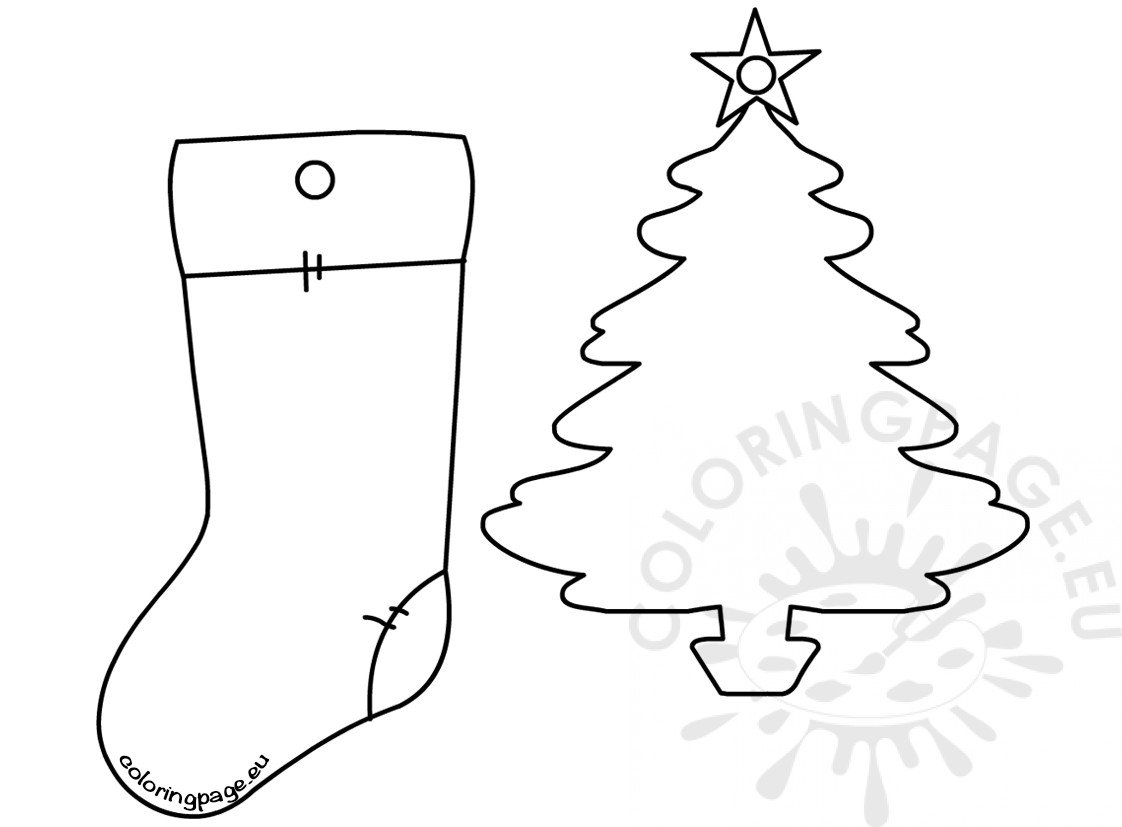 Christmas Tree Ornament Shapes Coloring Page