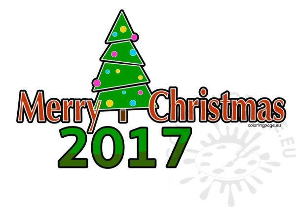 merry christmas 2017 clipart