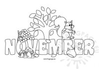 Autumn - Coloring Page