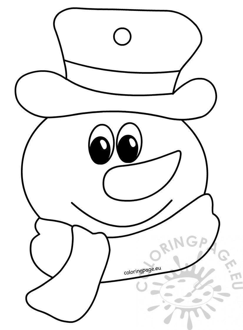 Coloring book for children Snowman
