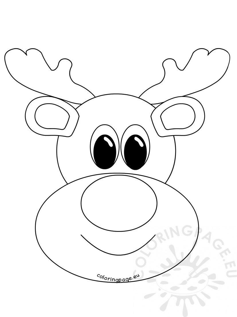 Rudolph Reindeer Face craft