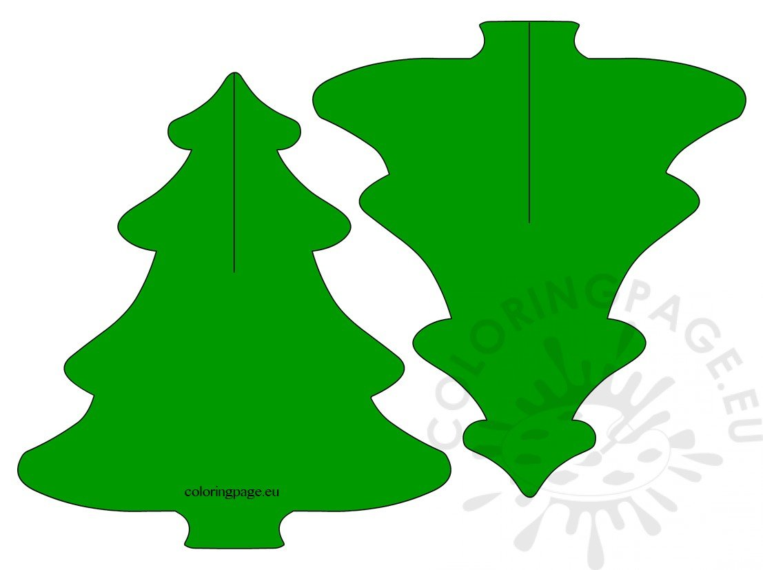 3d Pine Tree Paper Craft For Kids Coloring Page