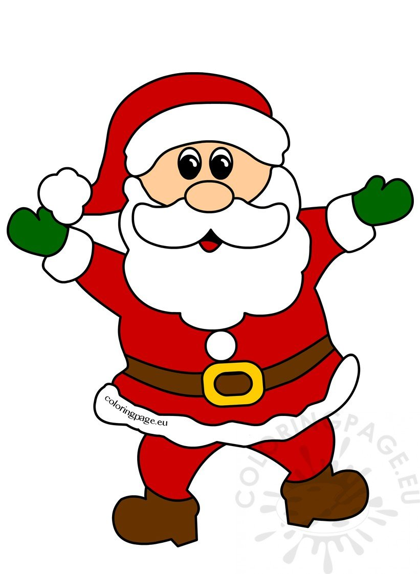 hight resolution of cheerful santa claus christmas clipart