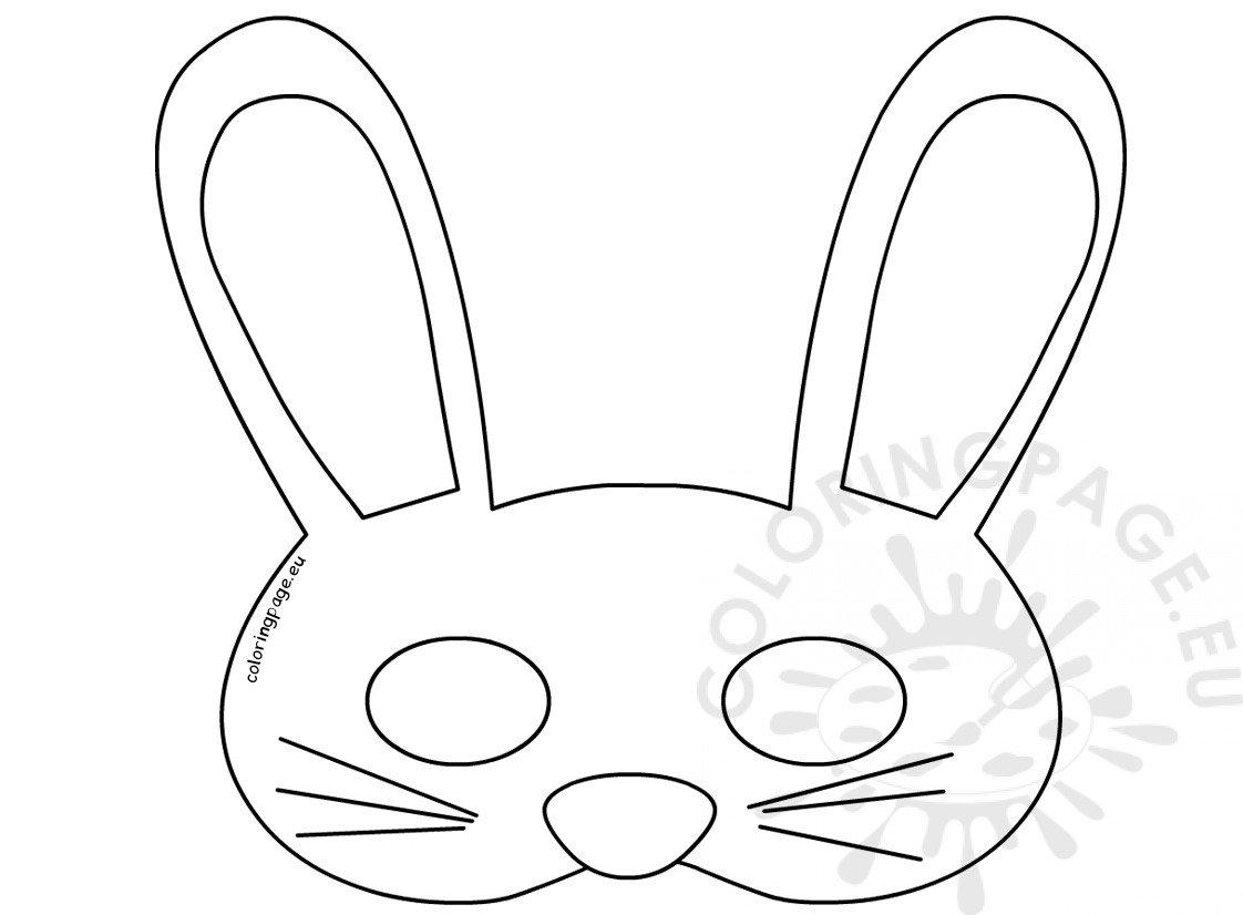 Printable Easy Easter Bunny Mask
