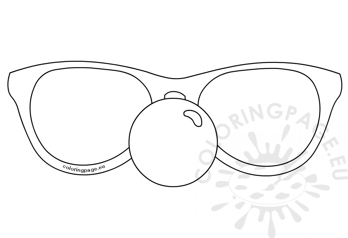 Glasses with Clown Nose template