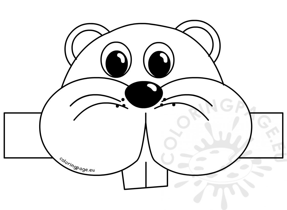 Groundhog Day Hat Template Coloring Page