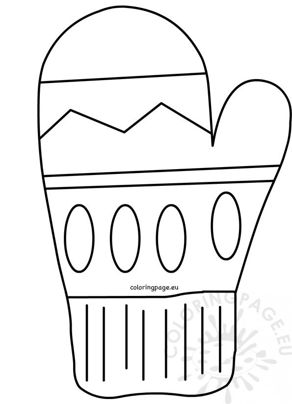 winter coloring page printable mitten template – coloring page