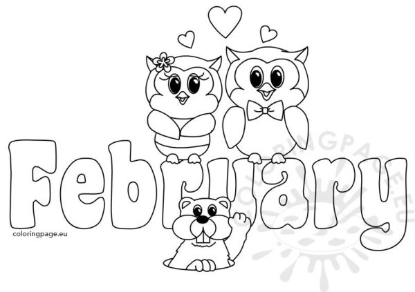 clipart month of february text