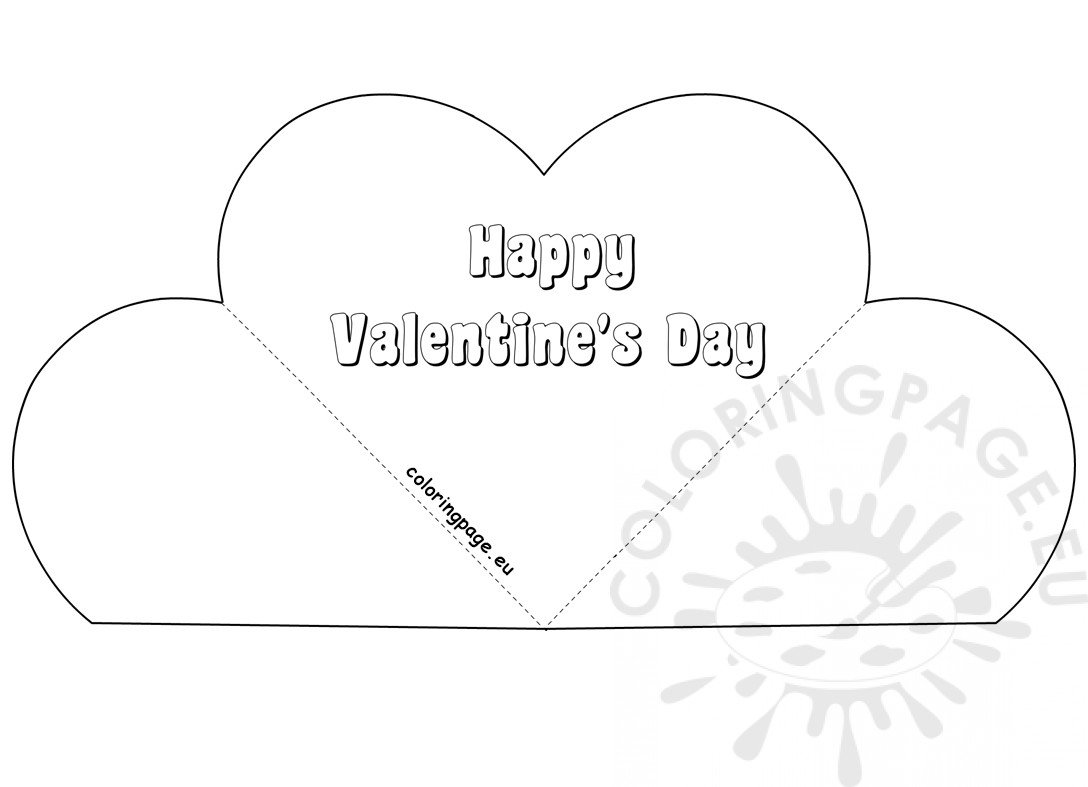 Simple Popup Heart Card Valentine's Day