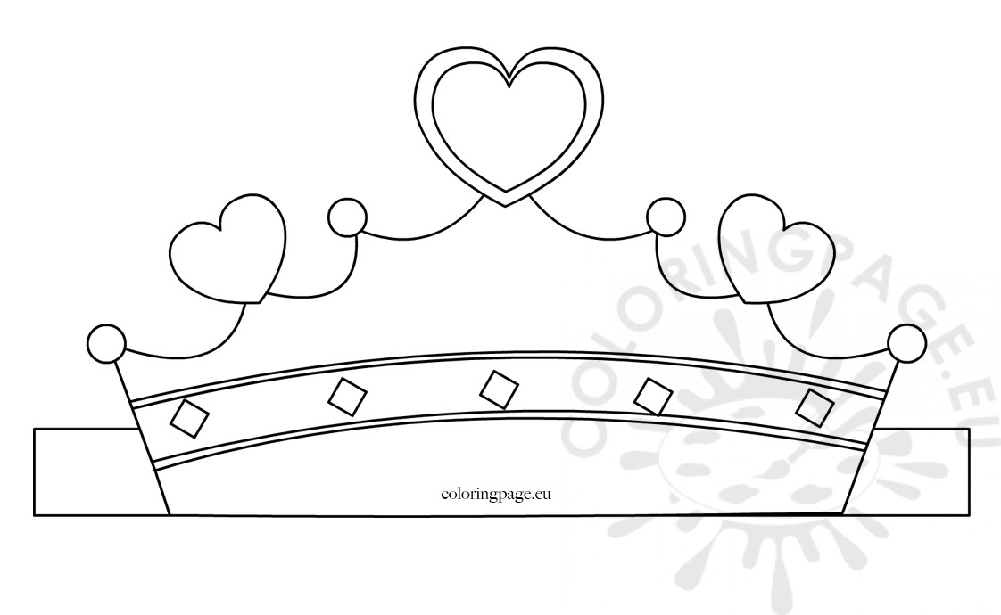 Paper princess crown template