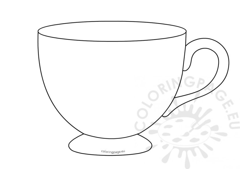 tea cup template printable – coloring page