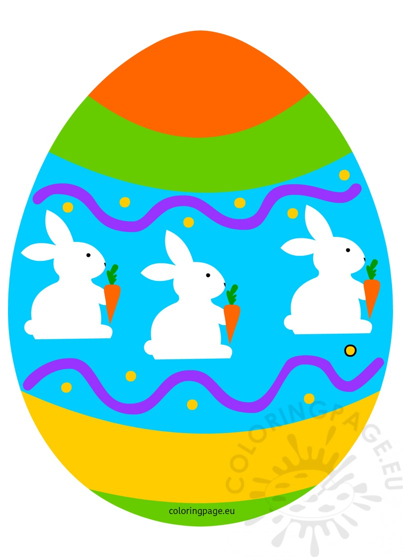 Easter Egg With Decor Clipart Holiday Coloring Page