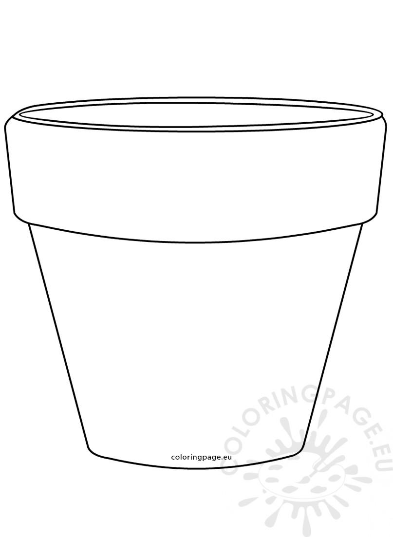 Printable Flower Pot Shape image