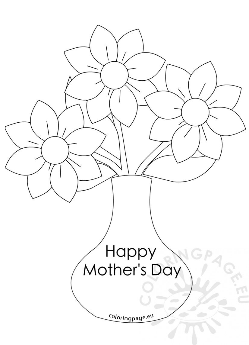 Mother's Day flowers Vase with three flowers