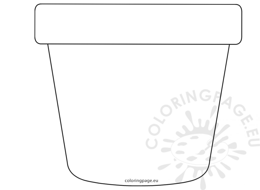 Printable flower pot pattern Mother's Day Card