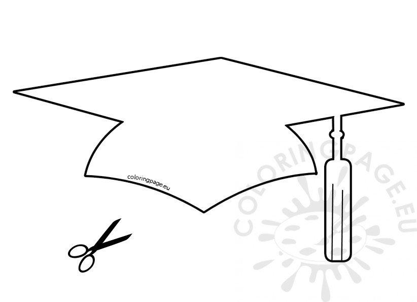 Paper Graduation Hat Template