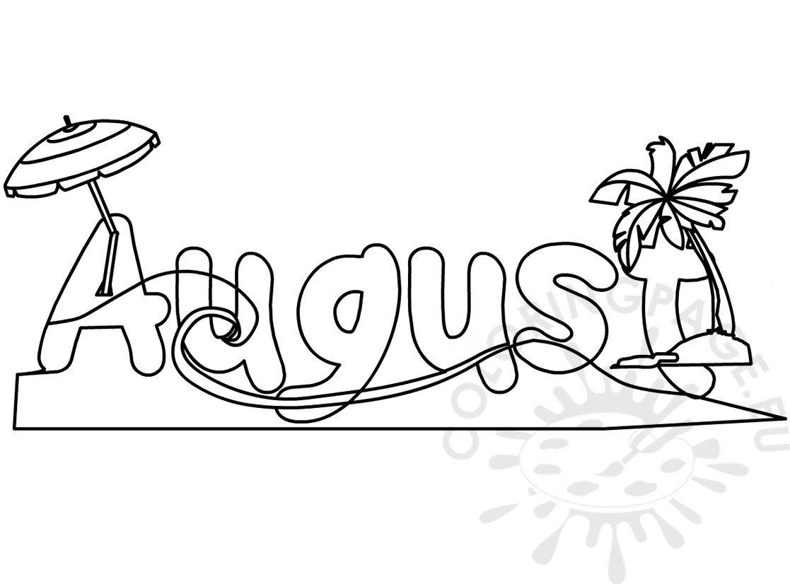 August Month Picture Months Coloring Page