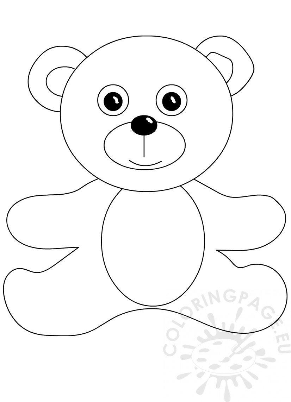 Teddy Bear Doll template