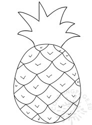 Outline Pineapple Clipart Black And White