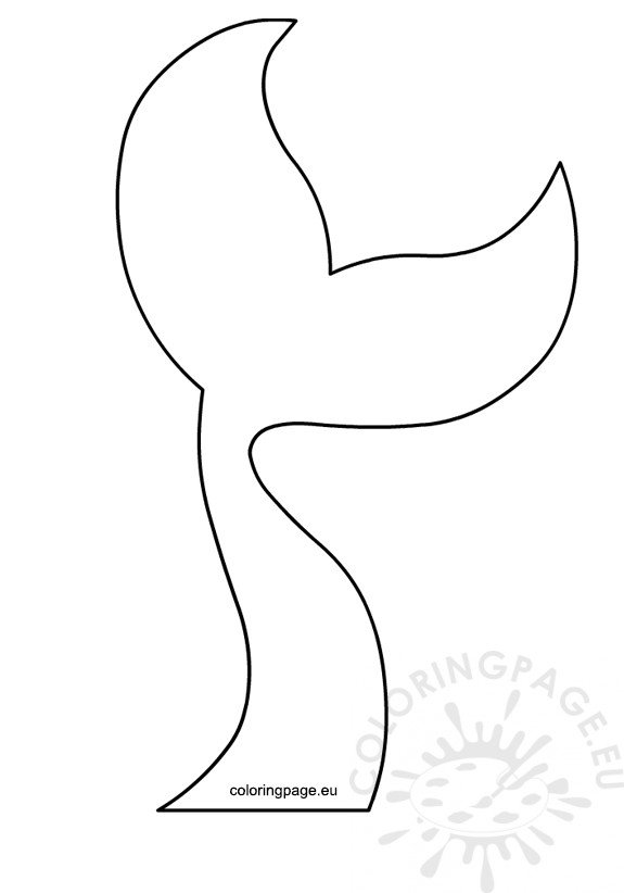 picture relating to Mermaid Template Printable titled Mermaid Tail Silhouette Vector printable Coloring Web page