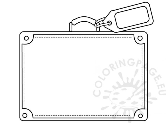 Suitcase template coloring sheets – Coloring Page