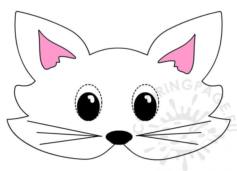 Cat mask template Printable animal masks