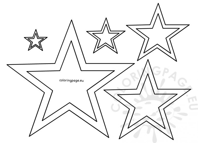 Different size star stencil template