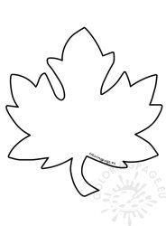 leaves fall leaf template coloring autumn