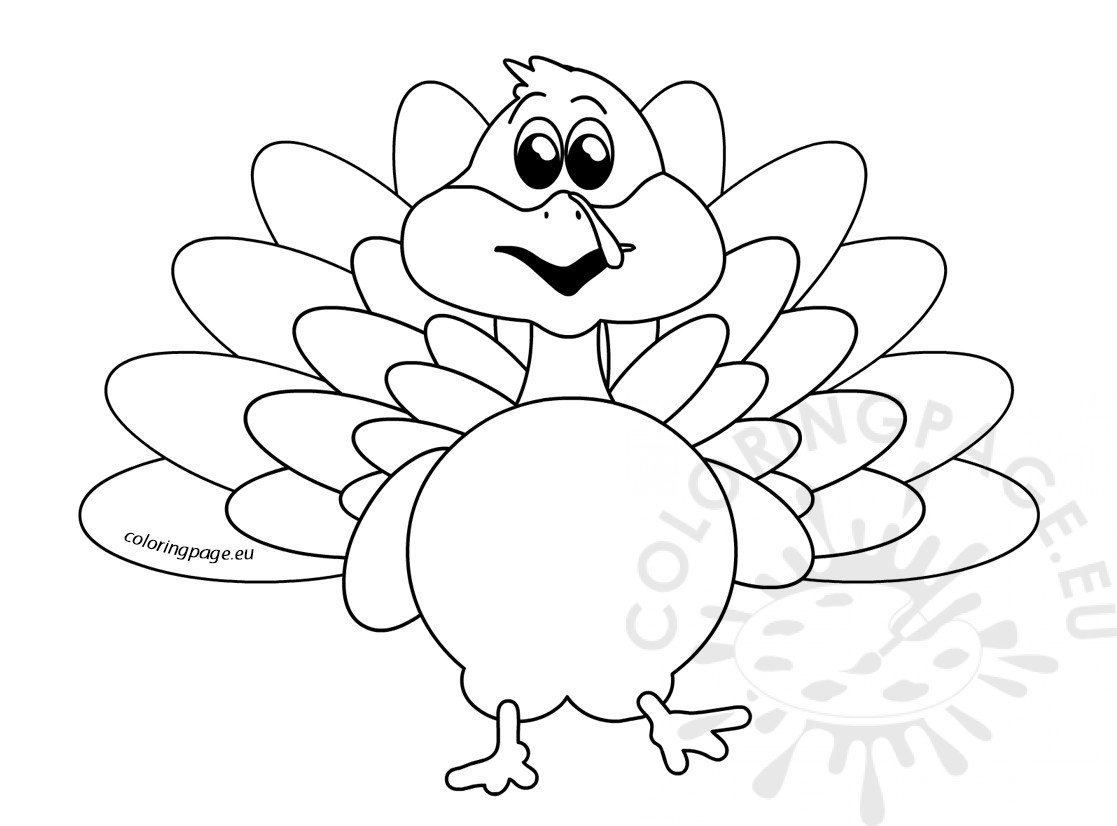 Cute turkey bird cartoon Thanksgiving image