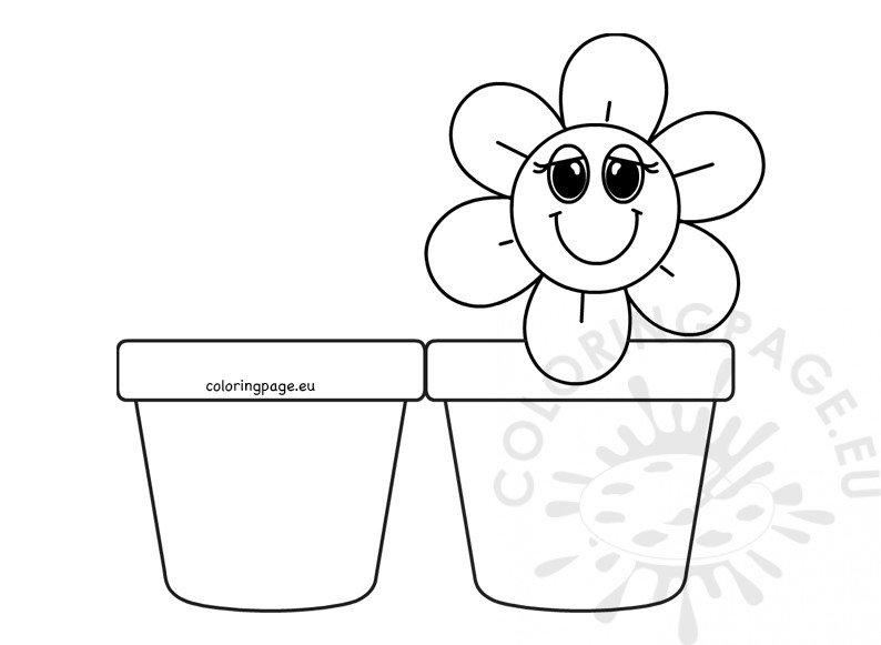 Vase with cute flower card printable