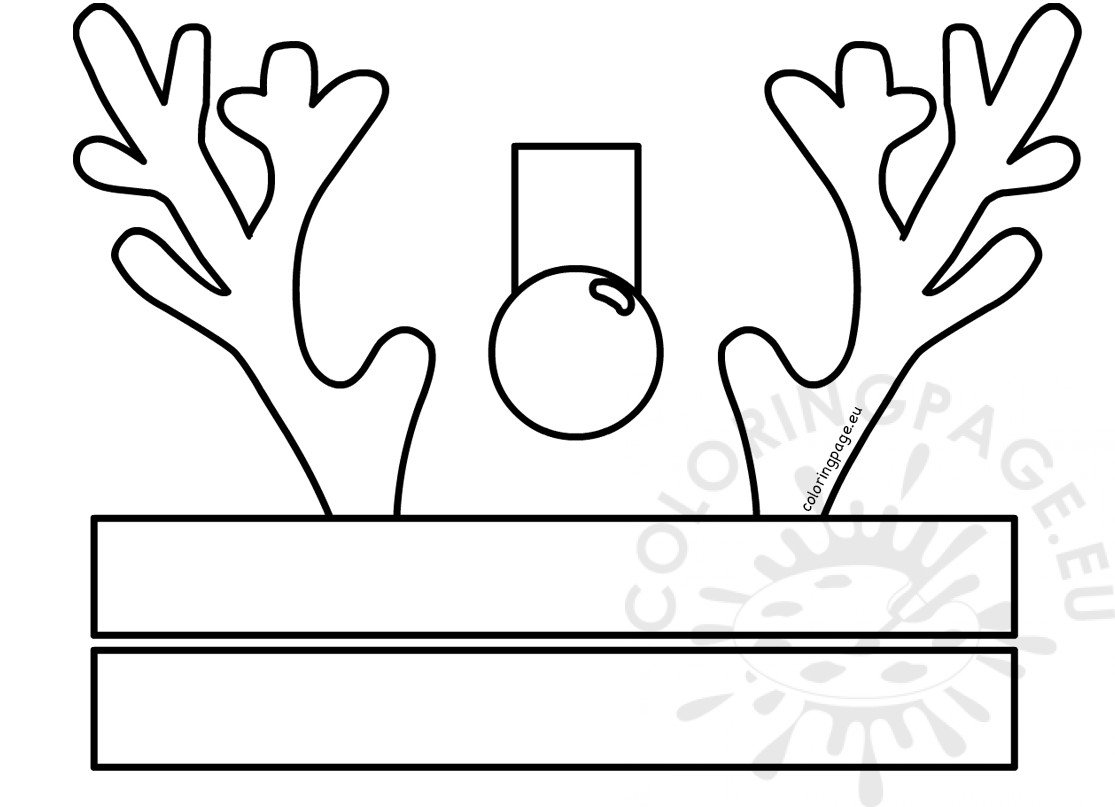 Reindeer Hat Craft Template Coloring Page