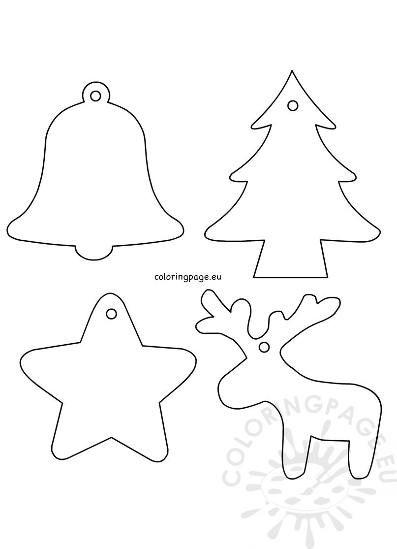 4 Christmas Felt Ornament Patterns