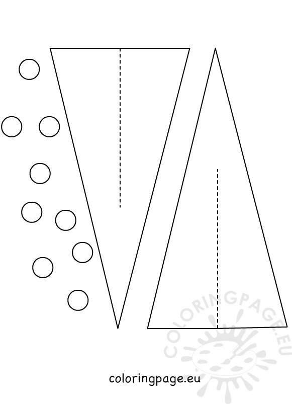 Paper Christmas Tree Templates 3d