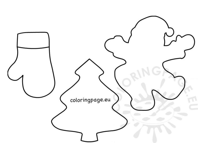 large felt xmas shapes printable – coloring page