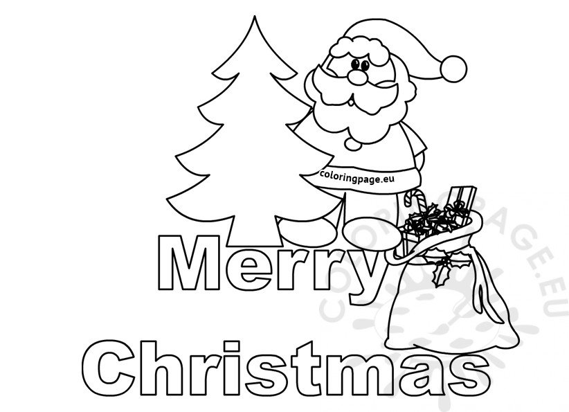 Merry christmas letters for colouring