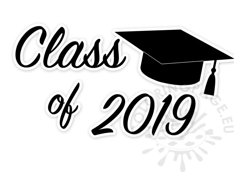 Class of 2019 Graduation Clip Art printable