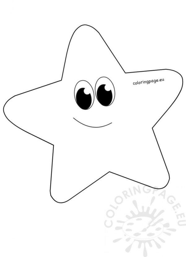 whimsical cartoon star clipart