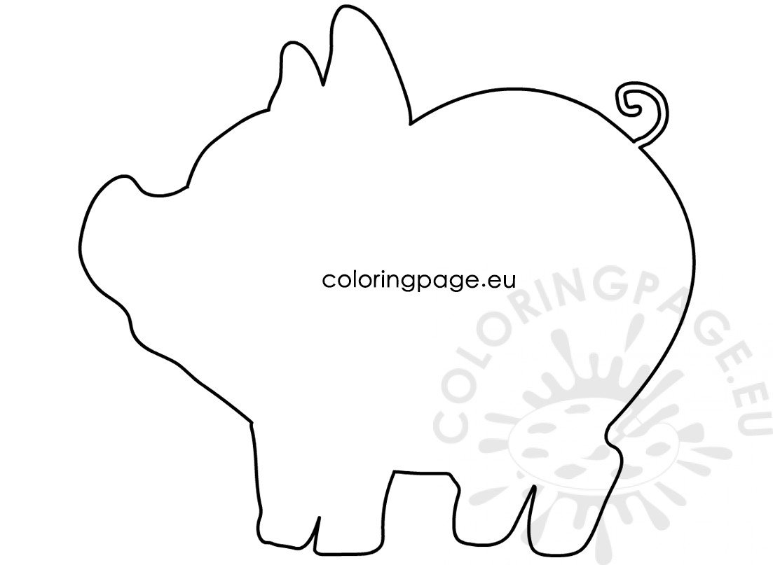 Simple Pig template Animals crafts