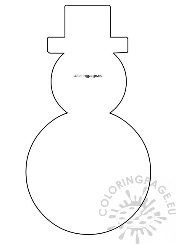 Large snowman hat pattern printable