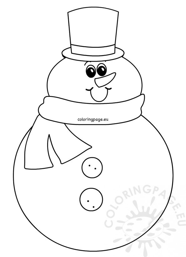Snowman with Hat and Scarf printable