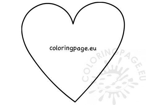Big heart template craft for kids