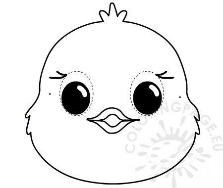 Easter chick mask template Animal masks