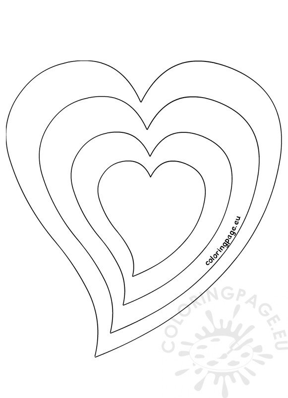 Heart different size template