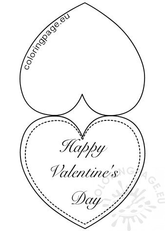Printable Heart Valentine Card template