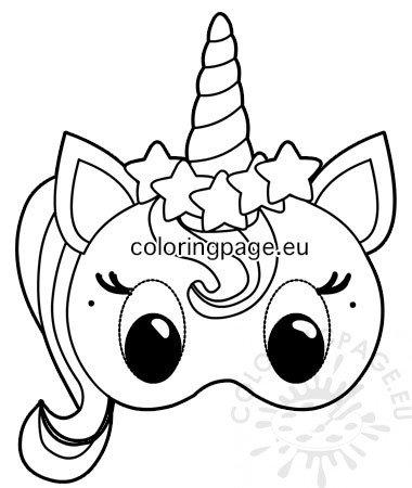 Unicorn paper mask template