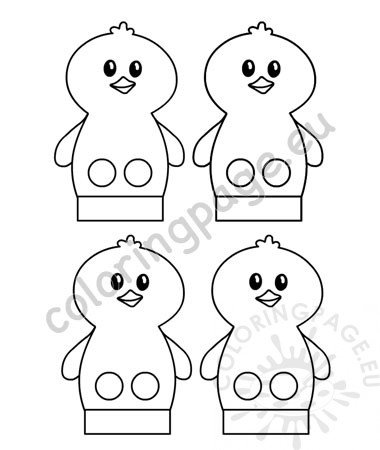Baby Chick Finger Puppet pattern printable