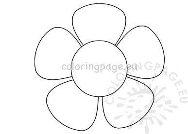 Five petal flower blossom template